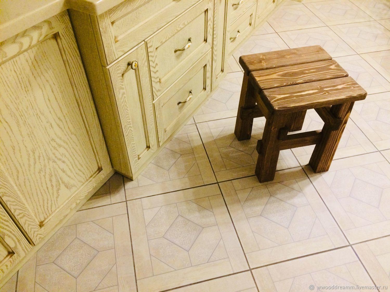 Мебель ручной работы. Ярмарка Мастеров - ручная работа. Купить Табуретка. Handmade. Коричневый, табурет, стулья, долговечный, сосна