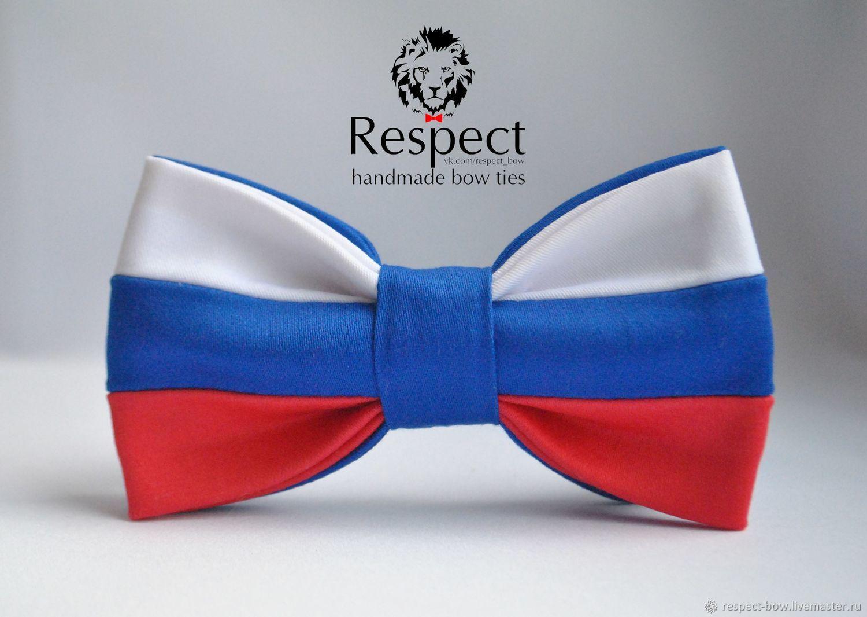 Галстук бабочка Патриот / бабочка галстук с флагом России на выбор, Галстуки, Москва,  Фото №1