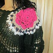 Одежда handmade. Livemaster - original item tunic: Mohair tunic Scarlet flower. Handmade.