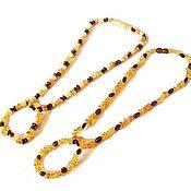 Работы для детей, handmade. Livemaster - original item Amber beads baby bracelet 39 cm baby Gift, girl. Handmade.