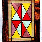 Для дома и интерьера ручной работы. Ярмарка Мастеров - ручная работа Арлекино. Витражное панно из цветного стекла. Тиффани. Handmade.