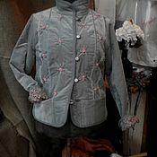 Пиджаки ручной работы. Ярмарка Мастеров - ручная работа Бархатный жакет с ручной вышивкой.. Handmade.