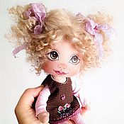 Куклы и игрушки ручной работы. Ярмарка Мастеров - ручная работа Ириска. Текстильная кукла. Handmade.