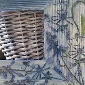 Для дома и интерьера ручной работы. Ярмарка Мастеров - ручная работа Зеркало. Сиреневые цветы.  Настенное зеркало. Рамка для фото. Handmade.