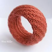 Украшения handmade. Livemaster - original item Women`s knitted wide bracelet Bright bracelet. Handmade.
