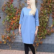 Одежда handmade. Livemaster - original item EGGDRESS JERSEY LIGHT BLUE dress. Handmade.