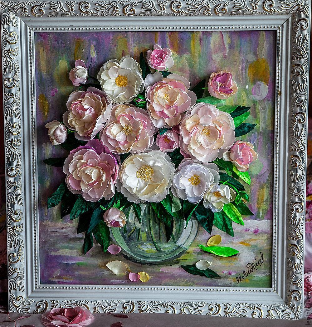 Картина из ленточек своими руками фото 116