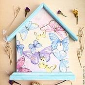 """Ключницы ручной работы. Ярмарка Мастеров - ручная работа Ключница """"Бабочки"""". Handmade."""