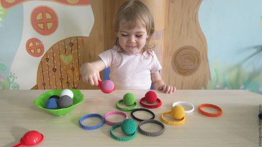 Развивающие игрушки ручной работы. Ярмарка Мастеров - ручная работа. Купить Учим цвета (развивающее пособие). Handmade. Комбинированный, развивайка