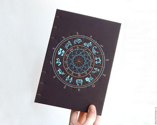 Блокноты ручной работы. Ярмарка Мастеров - ручная работа. Купить Астро-блокнот. Handmade. Блокнот для астролога, эзотерический блокнот