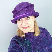 Аксессуары handmade. Livemaster - original item Hats: felted Violet hat. Handmade.