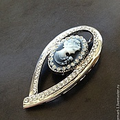 Материалы для творчества handmade. Livemaster - original item Large brooch art. 3-23A cameo pendant. Made In Italy. Handmade.