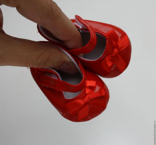 Куклы и игрушки ручной работы. Ярмарка Мастеров - ручная работа. Купить Туфельки красные лаковые 7 см для куклы. Handmade.