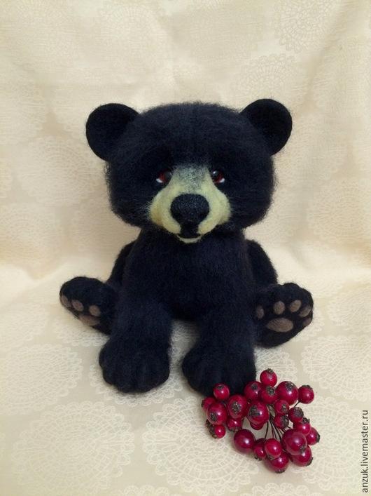 Игрушки животные, ручной работы. Ярмарка Мастеров - ручная работа. Купить Медвежонок черного медведя барибала(милашечная версия). Handmade. Черный
