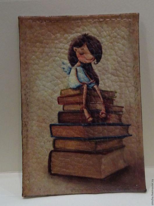 Ученица Ручная работа, кожаная обложка, обложка для проездного, обложка для социальной карты, девчонки Karin Taylor