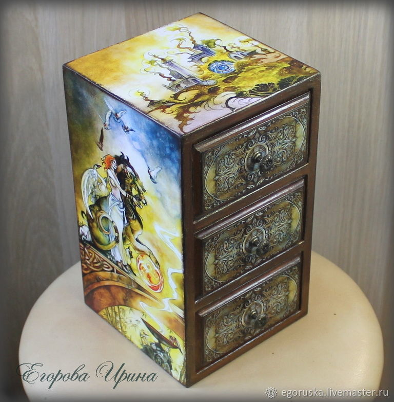Mini chest of drawers Valley of Mirages 4, Dressers, Moscow,  Фото №1