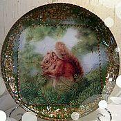 """Посуда ручной работы. Ярмарка Мастеров - ручная работа Тарелка подарочная """"Белка""""!. Handmade."""