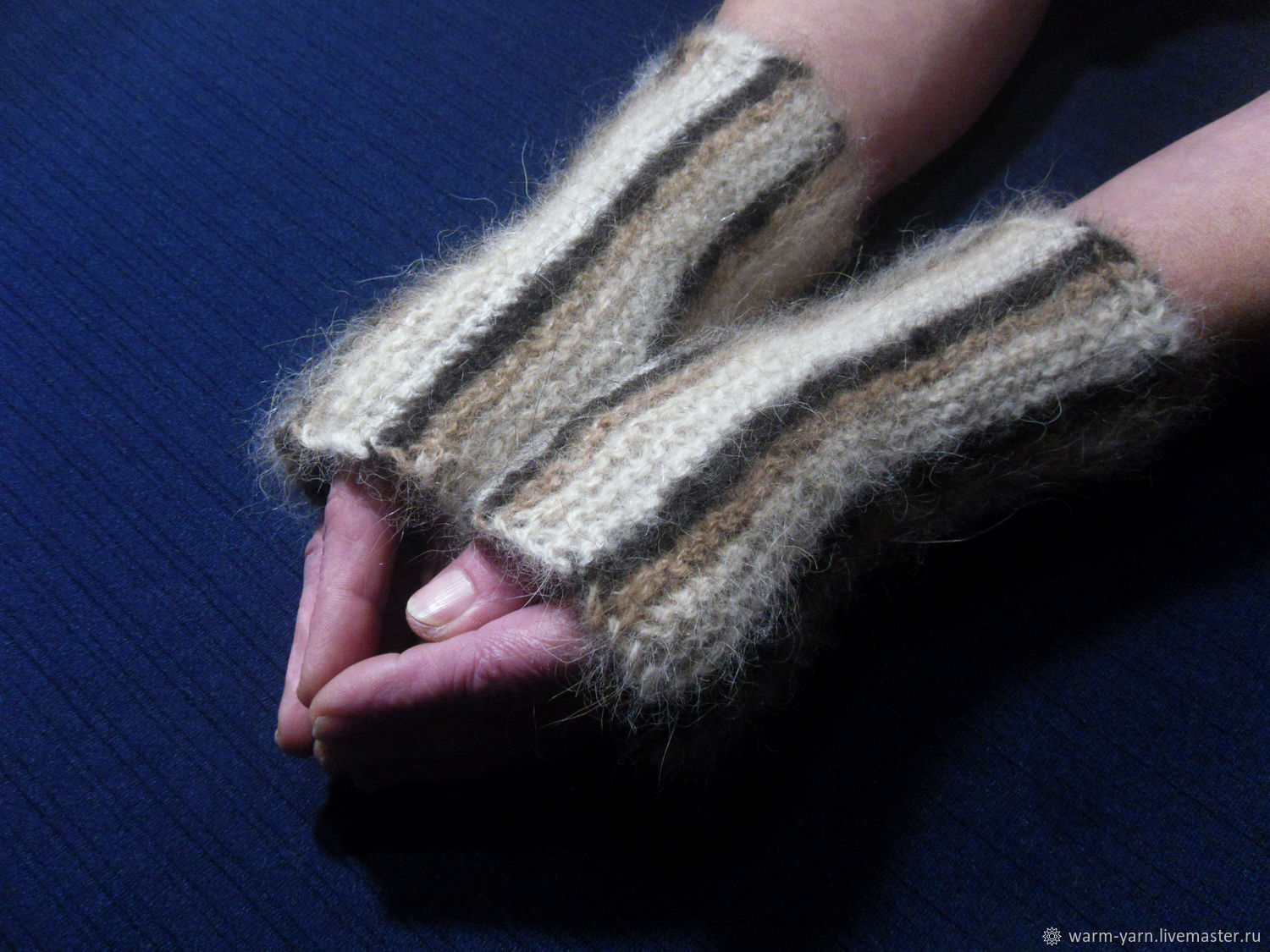 Women's knitted mittens From Leo, Mitts, Klin,  Фото №1