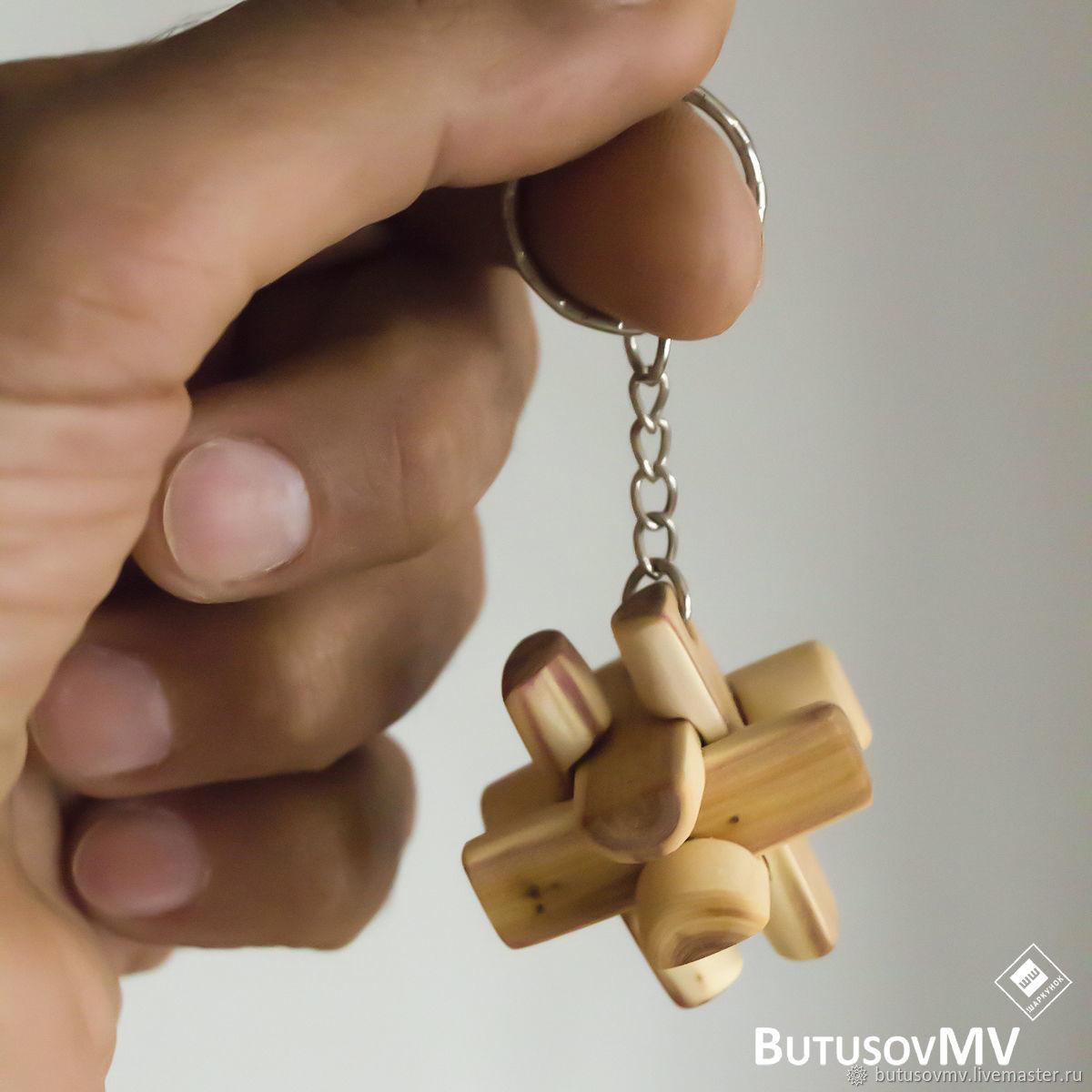 Брелок. Шаркунок можжевеловый 35х35. Головоломка из дерева, Брелок, Шенкурск,  Фото №1