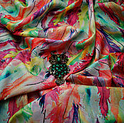 Материалы для творчества ручной работы. Ярмарка Мастеров - ручная работа НОВИНКА Штапель вискоза с перьями. Handmade.