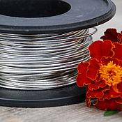 Материалы для творчества handmade. Livemaster - original item 1,0 mm copper Wire, silver. Handmade.