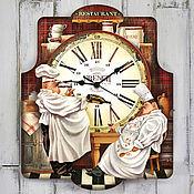 Для дома и интерьера ручной работы. Ярмарка Мастеров - ручная работа часы настенные Повар Петр повар Павел. Handmade.