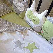 Для дома и интерьера ручной работы. Ярмарка Мастеров - ручная работа Бортики(бамперы) в детскую кроватку. Handmade.