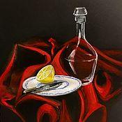 Иллюстрации ручной работы. Ярмарка Мастеров - ручная работа Натюрморт на красном. Handmade.