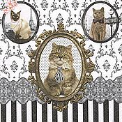 Кошки Барокко (CATS) - салфетка для декупажа
