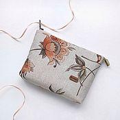 handmade. Livemaster - original item Cosmetic bag with a zipper with a pocket Rus option 2. Handmade.