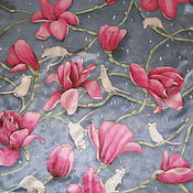 Аксессуары handmade. Livemaster - original item Silk neck scarf