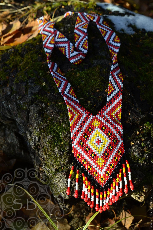 Gerdan 'Red spirit',decoration, Necklace, Kasimov,  Фото №1