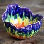 Салатники ручной работы. Ярмарка Мастеров - ручная работа Цветок радуги - миска. Handmade.