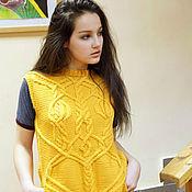 Одежда ручной работы. Ярмарка Мастеров - ручная работа Жилет из мериносовой пряжи. Handmade.