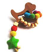 Куклы и игрушки ручной работы. Ярмарка Мастеров - ручная работа Грызунок-прорезыватель Собачка. Handmade.