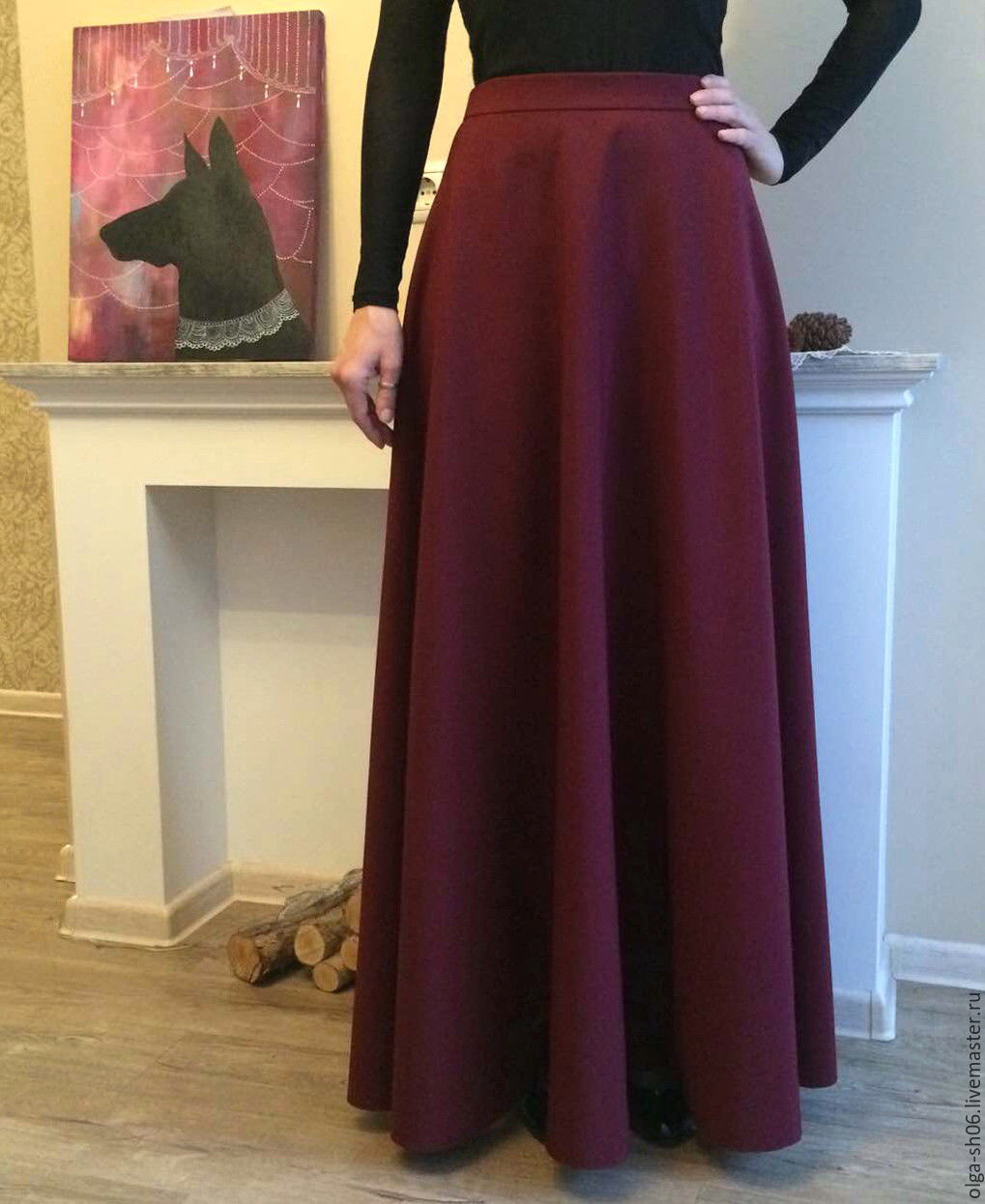 Длинная юбка из габардина сшить 84