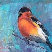 Картины и панно handmade. Livemaster - original item Oil painting. birds. Bullfinch. Handmade.
