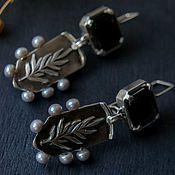 Украшения handmade. Livemaster - original item Sterling silver earrings, natural stones, earring with pearl silver. Handmade.