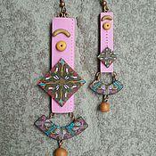 Украшения ручной работы. Ярмарка Мастеров - ручная работа Розовые серьги. Handmade.