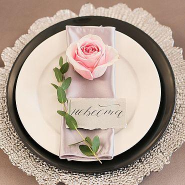 Свадебный салон ручной работы. Ярмарка Мастеров - ручная работа Карточки рассадки для гостей. Handmade.