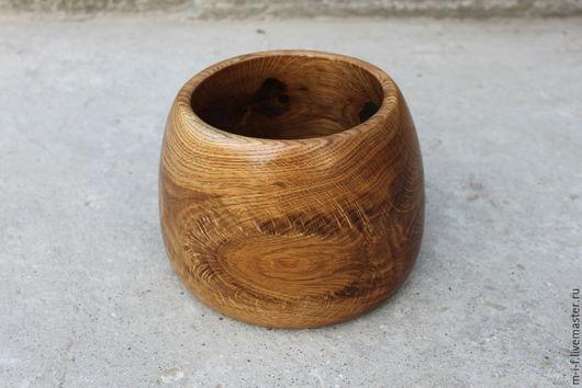Тарелки ручной работы. Ярмарка Мастеров - ручная работа. Купить Деревянная миска яйцевидной формы из дуба. (13/14/17). Handmade. Оранжевый