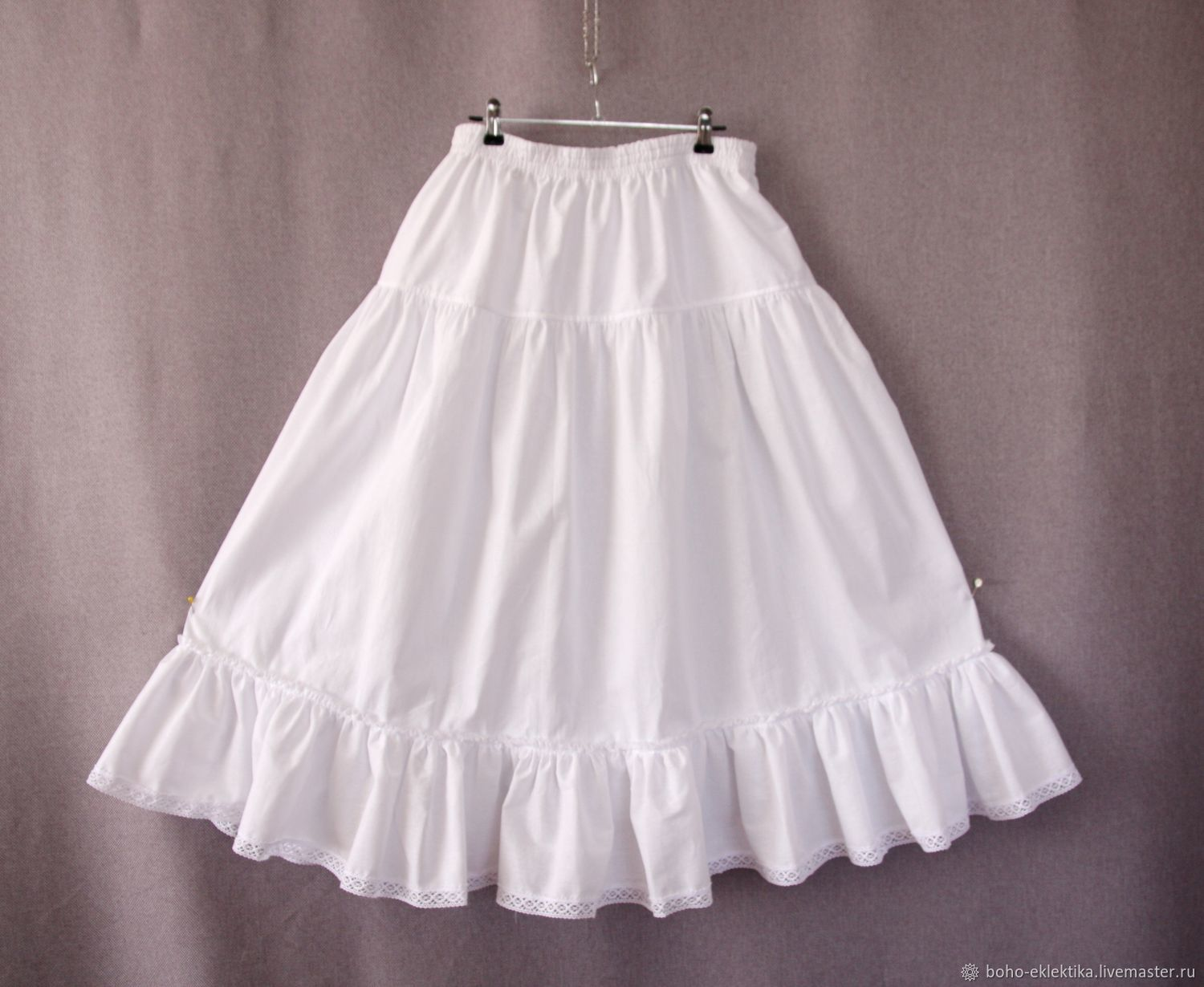Lower long skirt lace trims skirt tiers, Skirts, Tomsk,  Фото №1