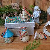 Подарки к праздникам ручной работы. Ярмарка Мастеров - ручная работа Новогодние игрушки ВОСТОК (4шт). Handmade.