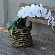 Цветы и флористика ручной работы. Ярмарка Мастеров - ручная работа Композиция из искусственных орхидей .. Handmade.
