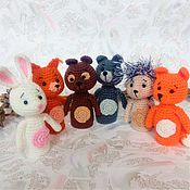 Куклы и игрушки handmade. Livemaster - original item Finger toys Forest animals Wolf Hare Bear Fox Squirrel hedgehog. Handmade.