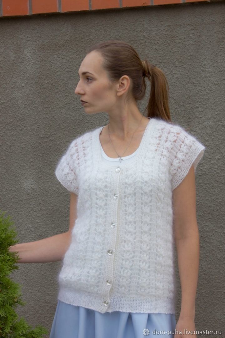 Down cardigan with Swarovski buttons, Cardigans, Moscow,  Фото №1