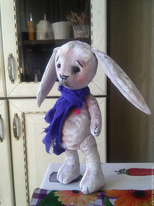 Мишки Тедди ручной работы. Ярмарка Мастеров - ручная работа. Купить Пасхальный зайка тедди Эйфи. Handmade. Белый, кролики