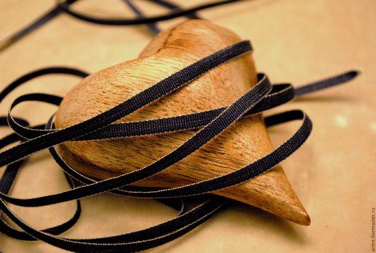 """Шитье ручной работы. Ярмарка Мастеров - ручная работа. Купить Лента УЗКАЯ Лен и Хлопок """"Темный джинс"""" (Франция). Handmade."""
