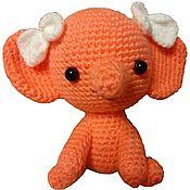 Мягкие игрушки ручной работы. Ярмарка Мастеров - ручная работа Мягкие игрушки: Слоник девочка. Handmade.