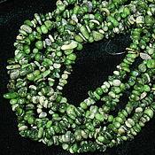 Материалы для творчества handmade. Livemaster - original item Green coral, thread crumbs 20 cm (tinted, natural coral). Handmade.